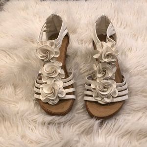 Shoes - Flower wedges. Size 6 never worn.